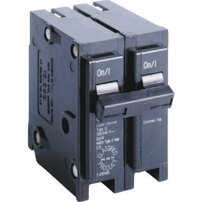 Eaton 20A Double-Pole Standard Trip Universal Replacement Circuit Breaker