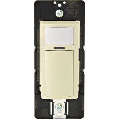 Leviton Decora Ivory 900 Sq. Ft. Coverage 180 Deg. Detection Occupancy Sensor Switch
