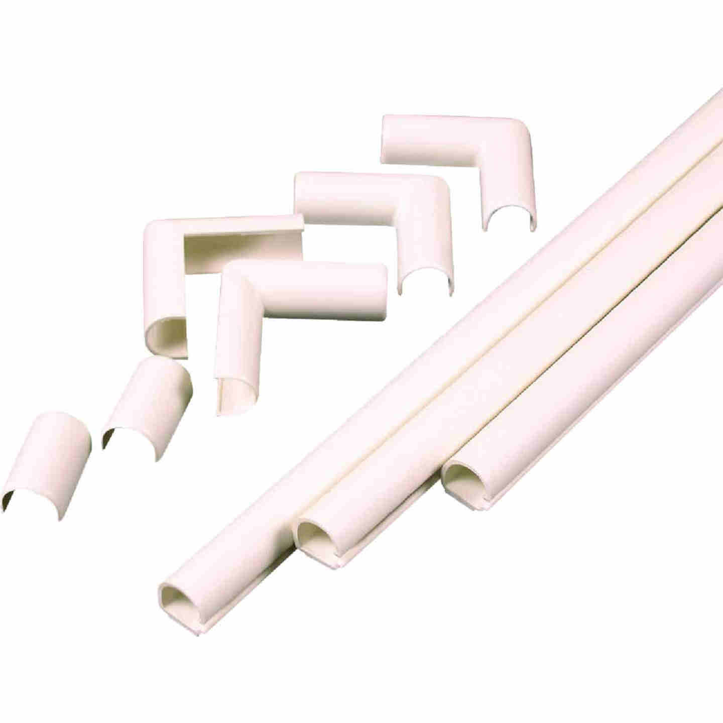Wiremold CordMate 1/2 In. x 3 Ft. Ivory Channel Image 1