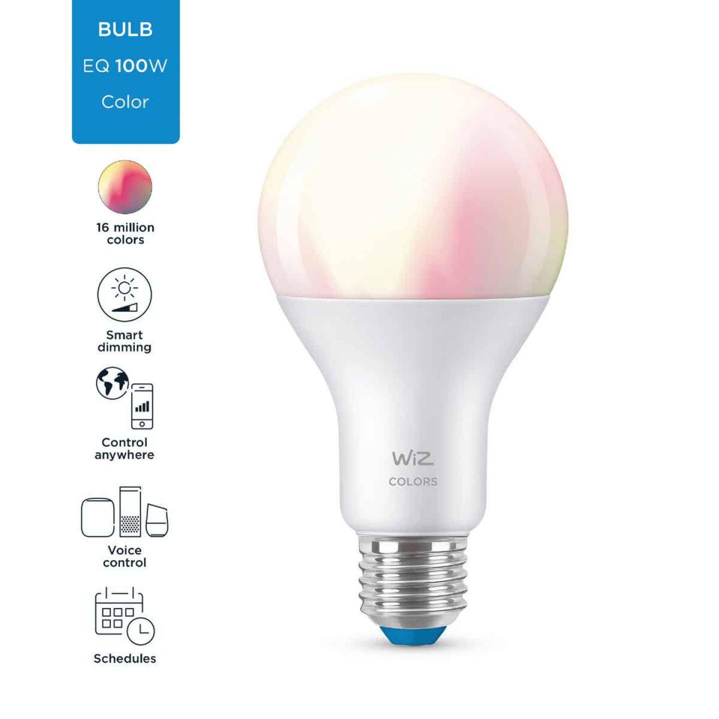 Wiz 100W Equivalent Color Changing A21 Medium Dimmable Smart LED Light Bulb Image 4
