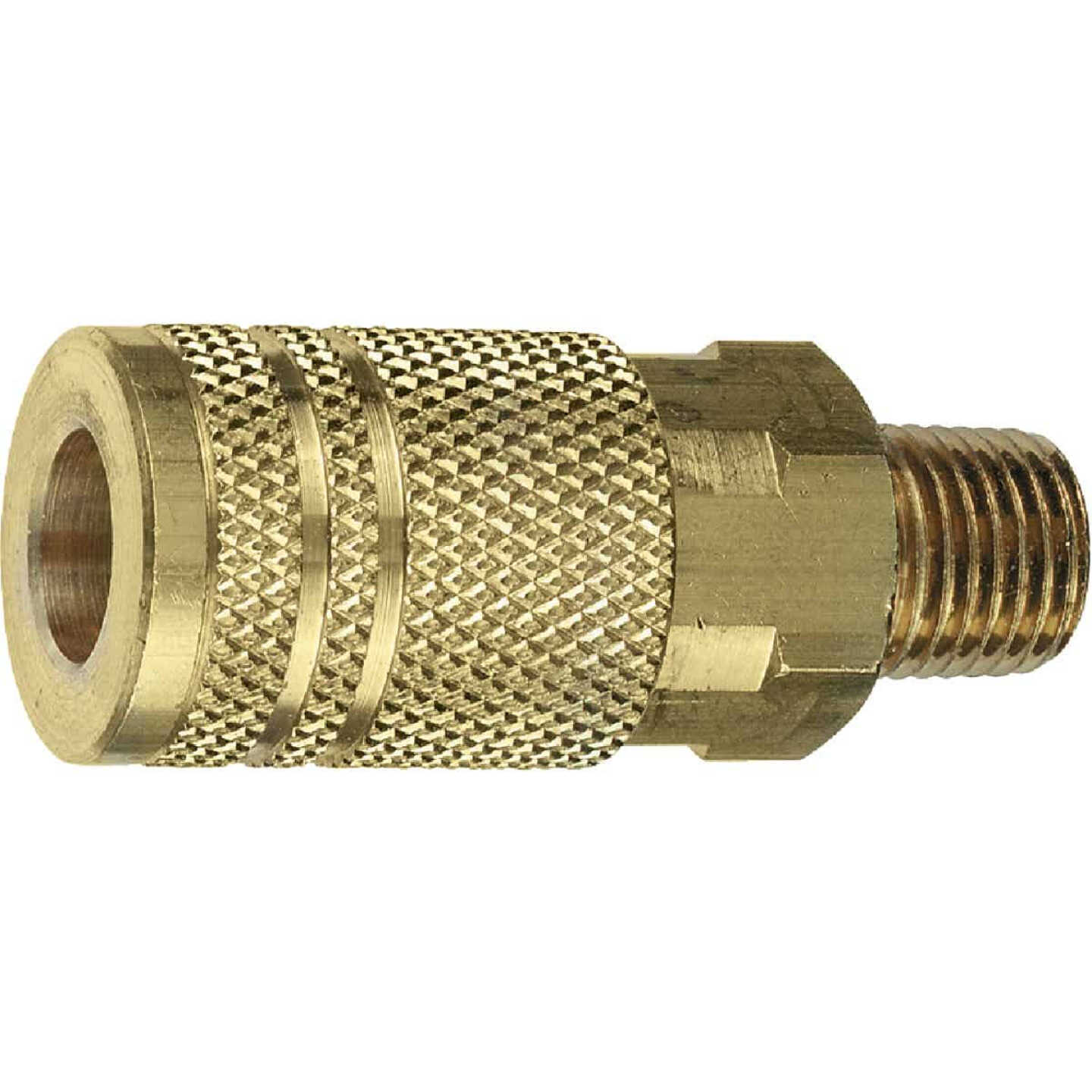 Tru-Flate Industrial/Milton Series Push-to-Connect 3/8 In. MNPT Coupler Image 2