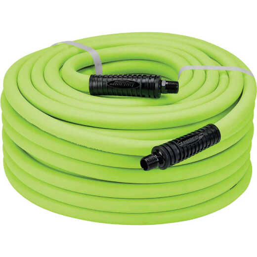 Flexzilla 1/2 In. x 50 Ft. Polymer-Blend Air Hose with 3/8 In. MNPT Fittings