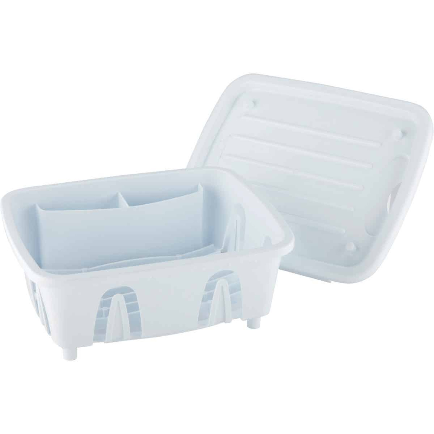 Camco Heavy-Duty Plastic 9.50 In. x 11.69 In. White RV Dish Drainer Image 1
