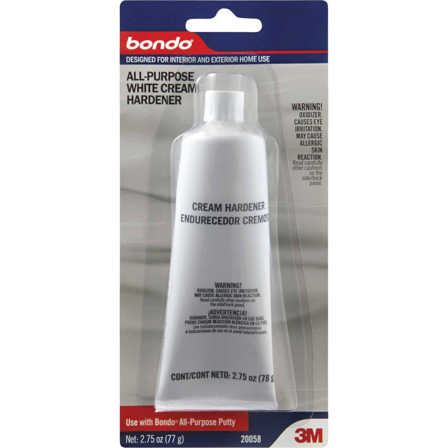 3M Bondo 2.75 Oz. All-Purpose White Cream Body Filler Hardener Image 1