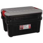 Rubbermaid ActionPacker 24 Gal. Black Storage Tote Image 1