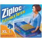 Ziploc Flexible XL 10 Gallon Heavy Duty Clothes Storage Bag Tote Image 1