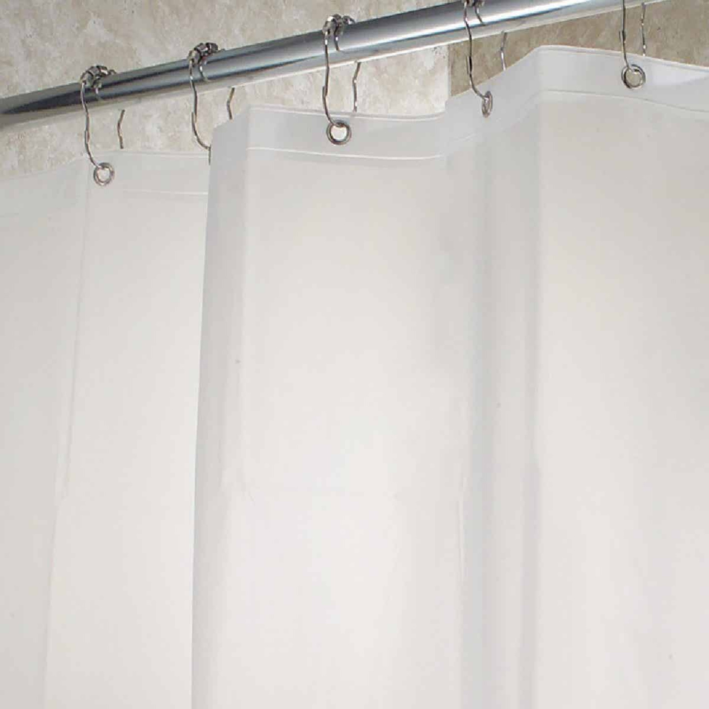 InterDesign Gia 72 In. x 72 In. Clear Vinyl Shower Curtain Liner Image 1