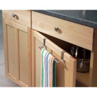 InterDesign Zia 9-1/4 in. Brushed Stainless Steel Over The Cabinet Towel Bar Image 2
