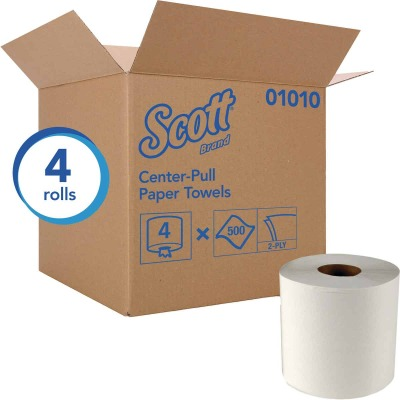 Kimberly Clark Scott Essential Center-Pull Flow Roll Towel (4 Count)
