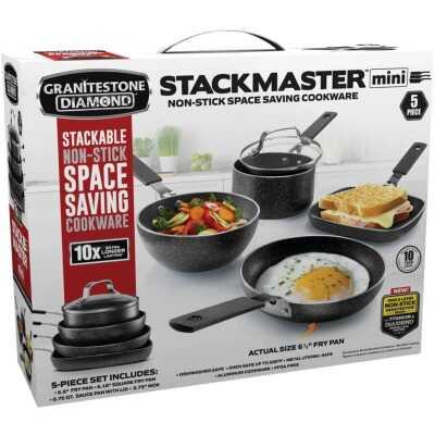 GraniteStone Diamond Stack Master Mini Cookware Set (5 Piece)