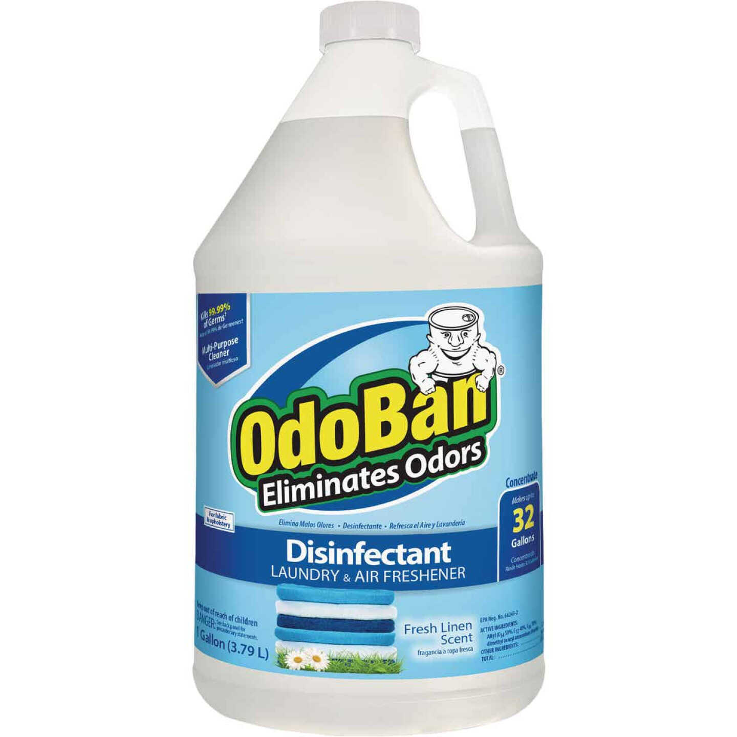 OdoBan 1 Gal. Fresh Linen Multi-Purpose Fabric & Air Freshener Disinfectant Concentrate Refill Image 1