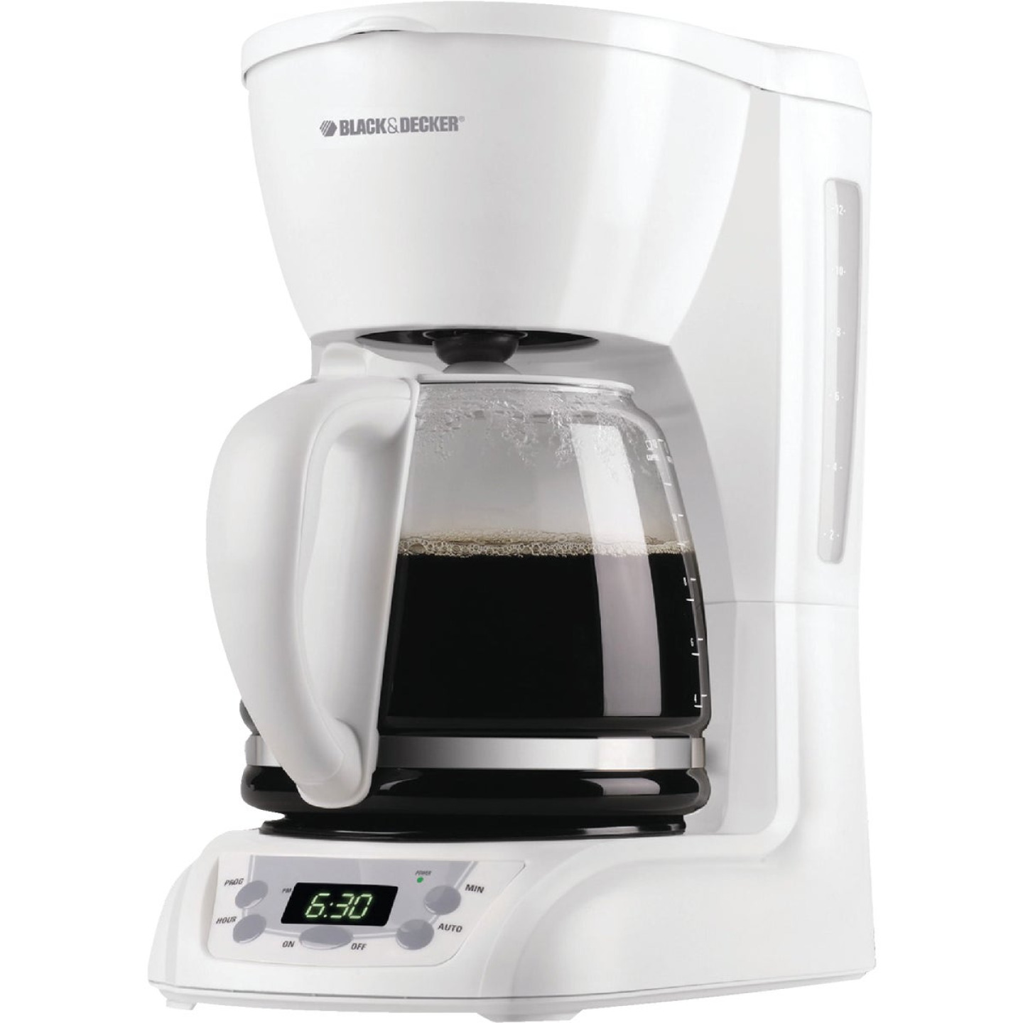 Black & Decker 12 Cup Programmable White Coffee Maker Image 1