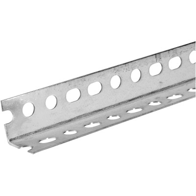 HILLMAN Steelworks Galvanized 1-1/4 In. x 8 Ft. Slotted Angle
