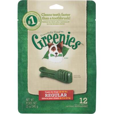 Greenies Regular Medium Dog Original Flavor Dental Dog Treat (12-Pack)