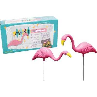 Bloem Pink Flamingo Mini Lawn Ornament (2-Pack)