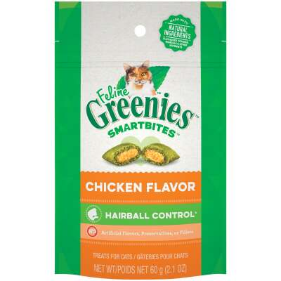 Greenies SmartBites Chicken 2.1 Oz. Hairball Control Cat Treats