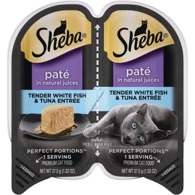 Sheba Perfect Portions Pate 2.6 Oz. Adult Tender Whitefish & Tuna Wet Cat Food