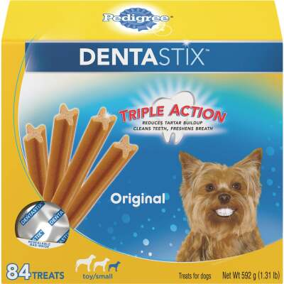 Pedigree Dentastix Toy Dog Original Flavor Dental Dog Treat (84-Pack)
