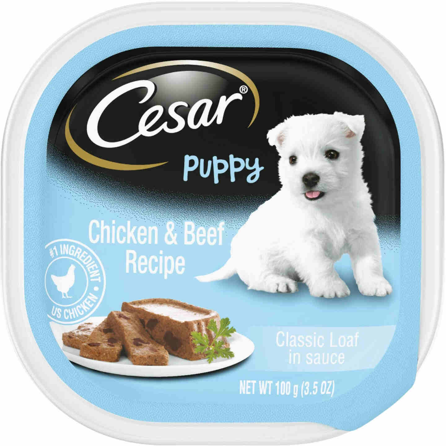 Cesar Classic Loaf Chicken & Beef Wet Puppy Food, 3.5 Oz. Image 1