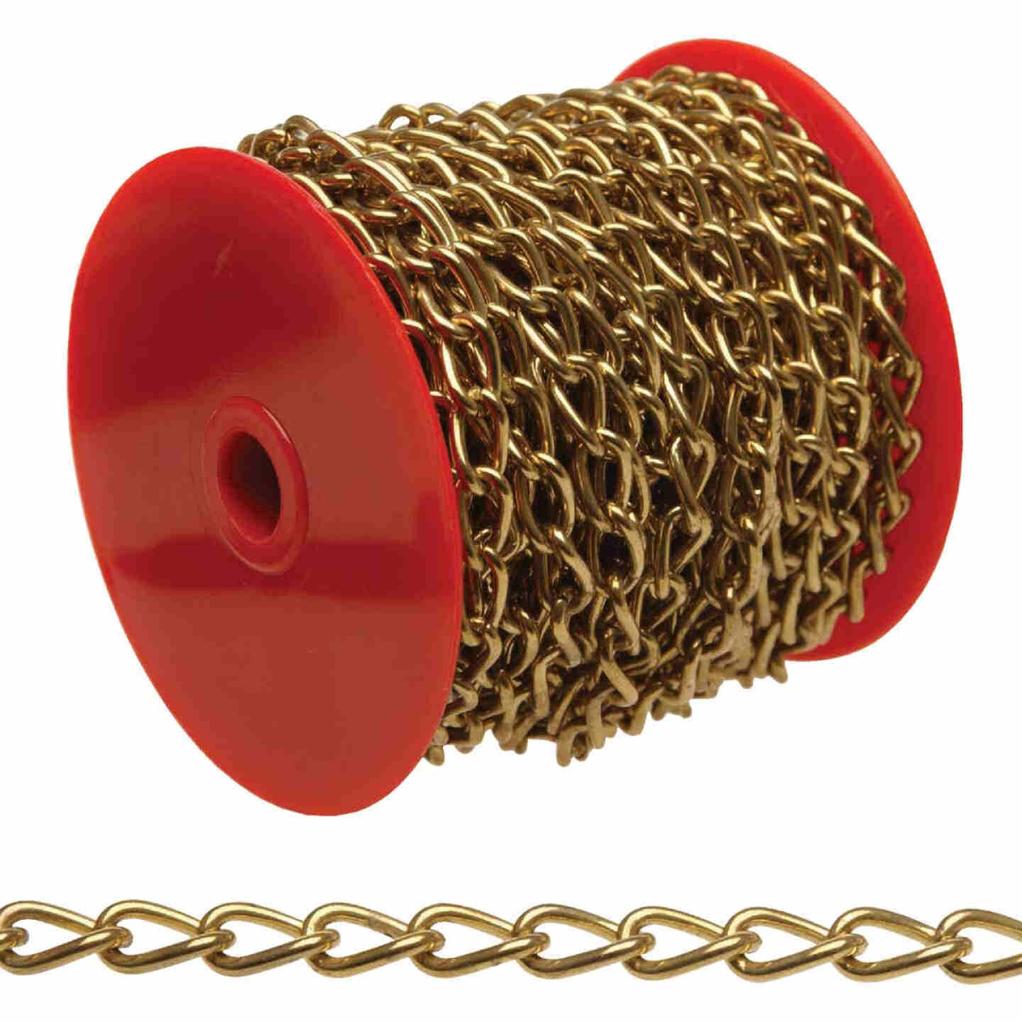 Campbell #90 82 Ft. Nickel-Plated Metal Craft Chain Image 1