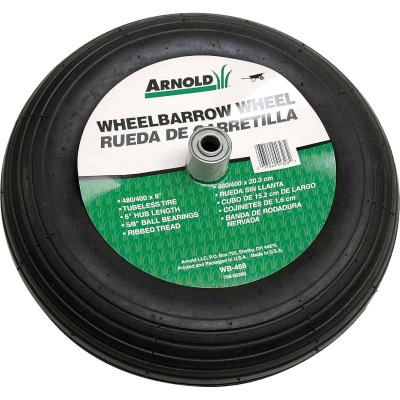 Arnold 16 x 480/400-8 In. Pneumatic Wheelbarrow Wheel with 6 In. Hub