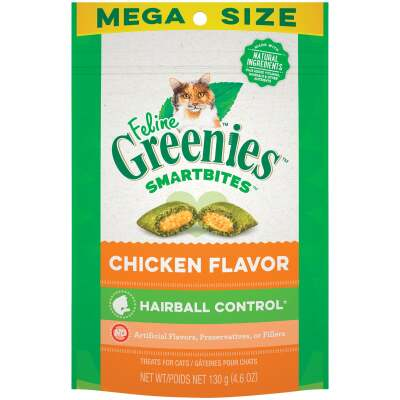 Greenies SmartBites Chicken 4.6 Oz. Hairball Control Cat Treats