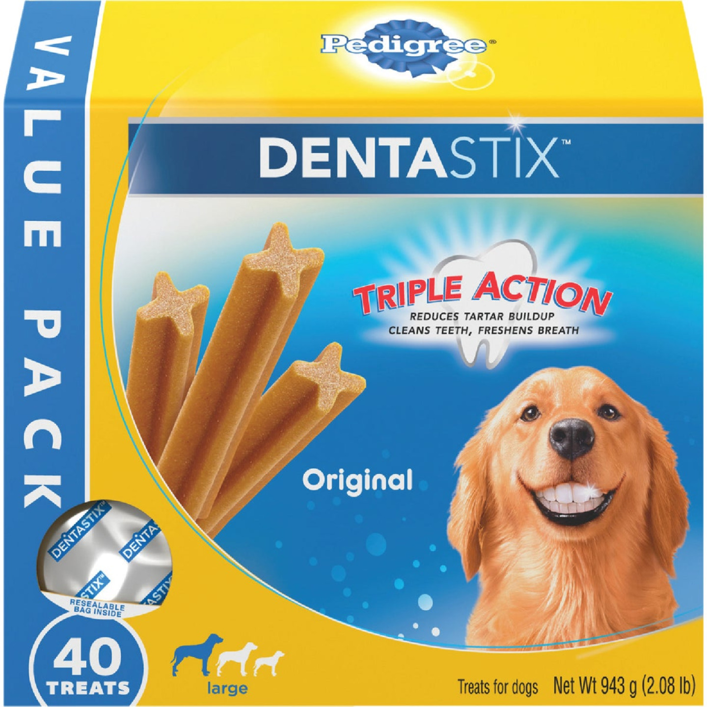 Pedigree Dentastix Large Dog Original Flavor Dental Dog Treat (40-Pack) Image 1