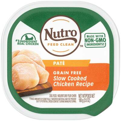 Nutro Grain Free Slow Cooked Chicken Adult Pate Dog Food, 3.5 Oz.