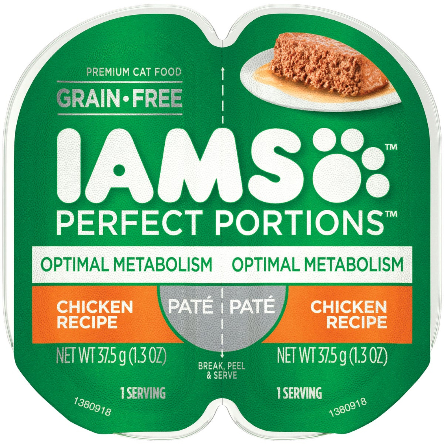 Iams Perfect Portions Optimal Metabolism 2.6 Oz. Chicken Flavor Adult Wet Cat Food Image 1