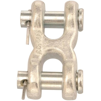 Campbell 7/16 In. x 1/2 In. Zinc-Plated Forged Steel Double Clevis Mid Link