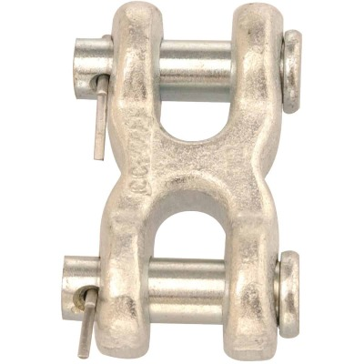 Campbell 1/4 In. x 5/16 In. Zinc-Plated Forged Steel Double Clevis Mid Link