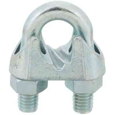 Campbell 1/2 In. Galvanized Iron Cable Clip