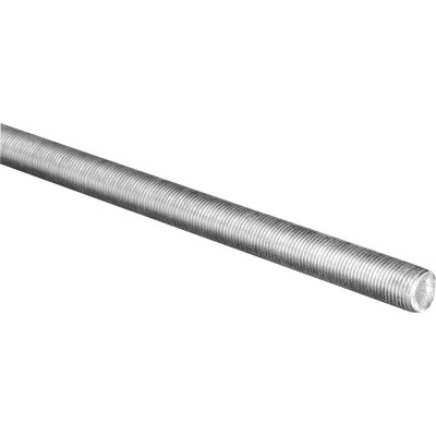 HILLMAN Steelworks 7/16 In. x 3 Ft. Steel Fine Threaded Rod