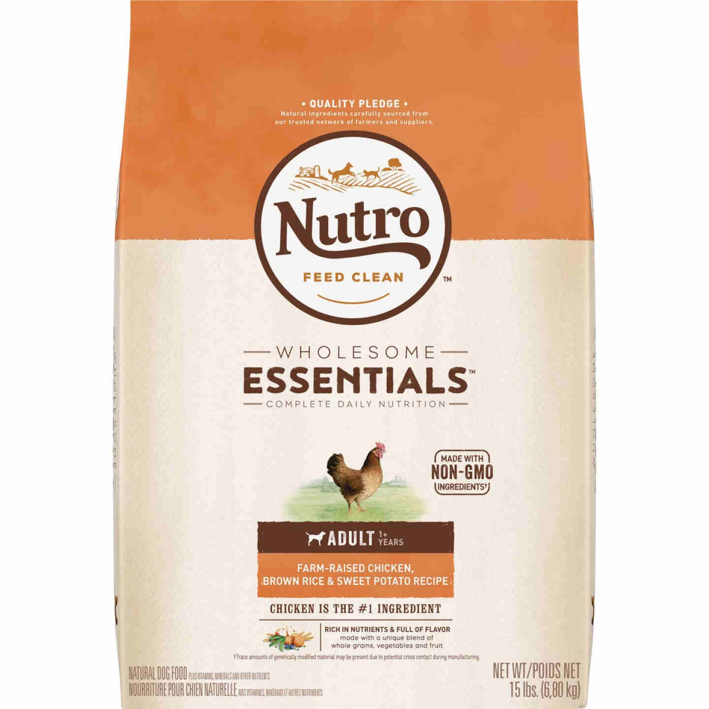 Nutro Wholesome Essentials 13 Lb. Chicken, Brown Rice, & Sweet Potato Adult Dry Dog Food Image 1