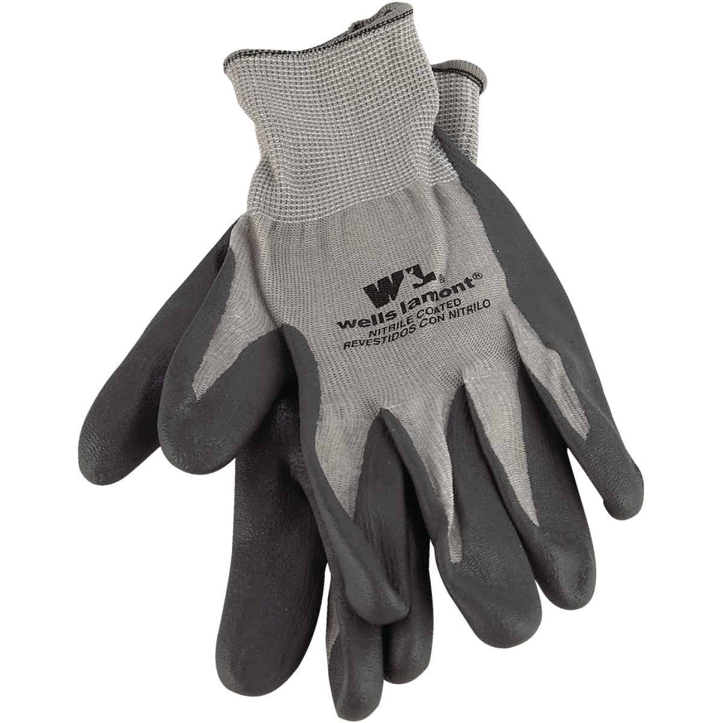 Wells Lamont Men's Large Fine Gauge Knit Nitrile Coated Glove Image 1