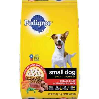 Pedigree Small Dog Complete Nutrition 15.9 Lb. Grilled Steak & Vegetable Adult Dry Dog Food