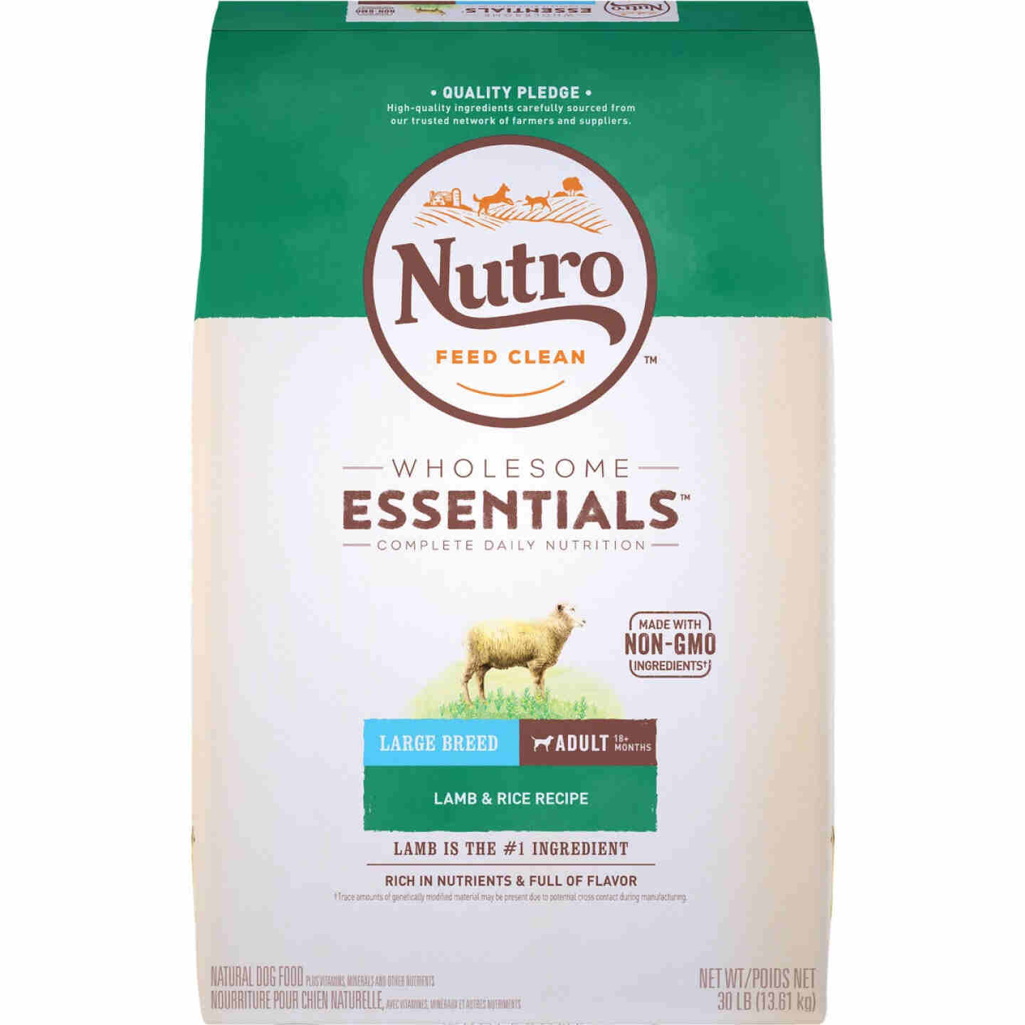 Nutro Wholesome Essentials 30 Lb. Lamb & Rice Large Breed Adult Dry Dog Food Image 1