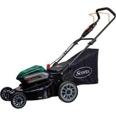 Scotts 19 In. 40 Volt Lithium Ion Cordless Electric Lawn Mower