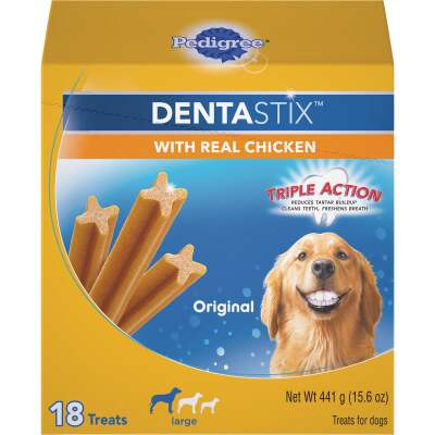 Pedigree Dentastix Large Dog Original Flavor Dental Dog Treat (18-Pack)