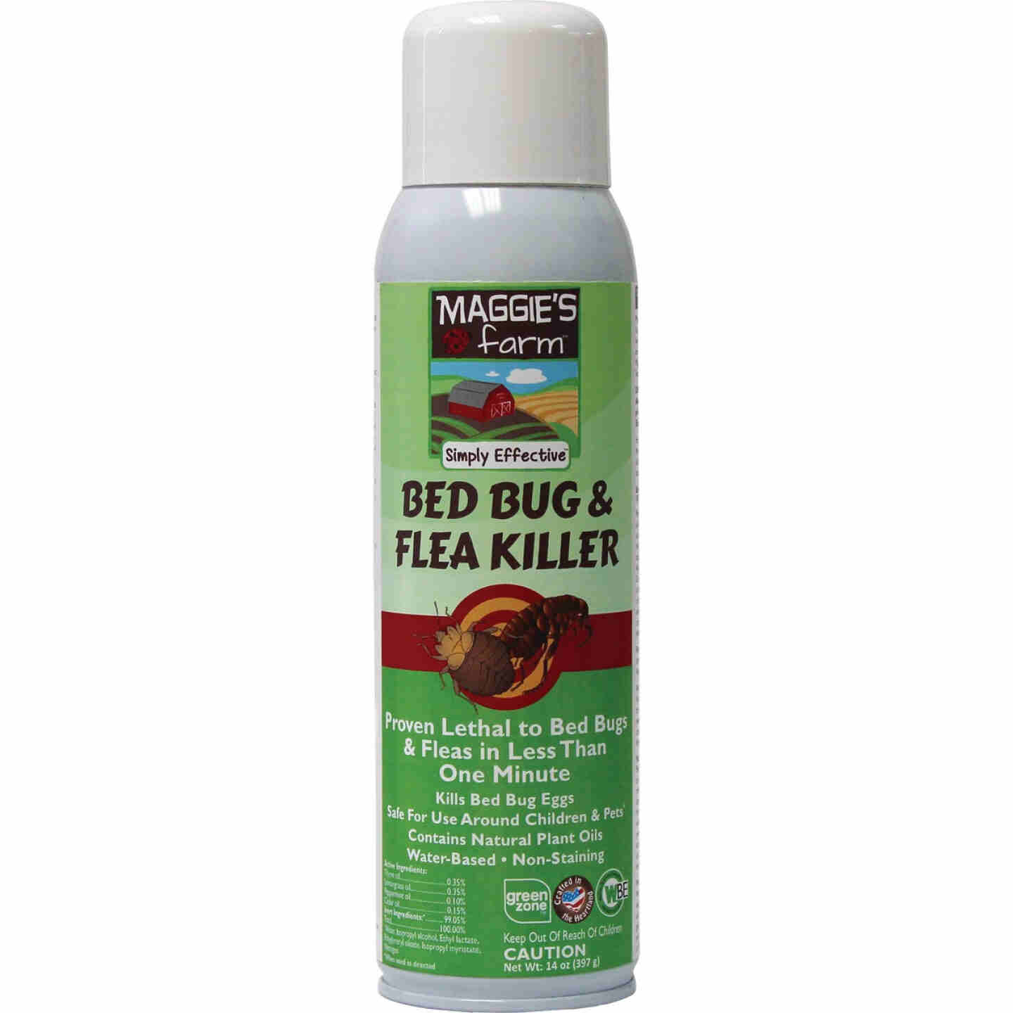 Maggie's Farm 14 Oz. Aerosol Spray Bedbug & Flea Killer Image 1