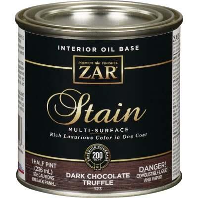 ZAR Oil-Based Wood Stain, Dark Chocolate Truffle, 1/2 Pt.