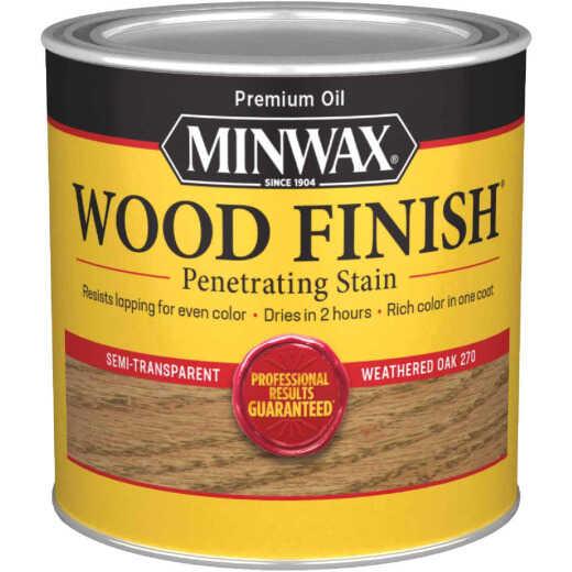 Minwax Wood Finish Penetrating Stain, Weathered Oak, 1/2 Pt.