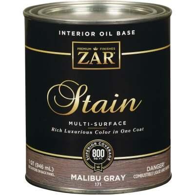 ZAR Oil-Based Wood Stain, Malibu Gray, 1 Qt.