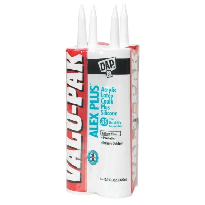 Dap Alex Plus 10.1 Oz. White Siliconized Acrylic Latex Caulk (4-Pack)