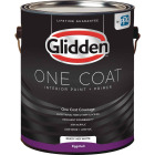 Glidden One Coat Interior Paint + Primer Eggshell Ready Mix White 1 Gallon Image 1