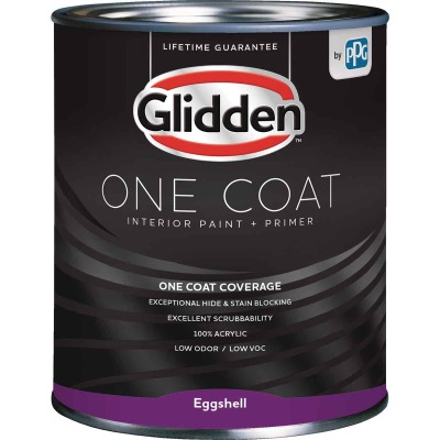 Glidden One Coat Interior Paint + Primer Eggshell Ultra Deep Base Quart