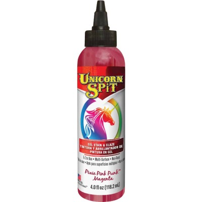 Unicorn Spit 4 Oz. Pixie Pink Paint, Gel Stain & Glaze