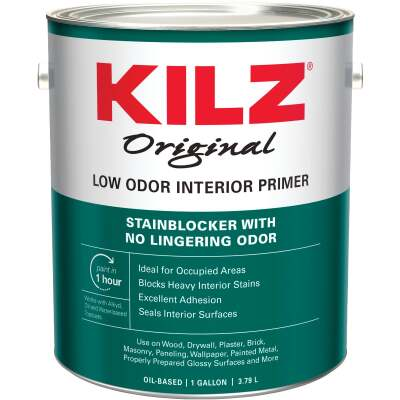 Kilz Original Low Odor Oil-Based Interior Primer Sealer Stainblocker, White, 1 Gal.
