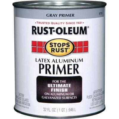 Rust-Oleum Stops Rust Latex Aluminum Primer, Gray, 1 Qt.