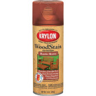 Krylon 12 Oz. Exterior Semi-Transparent Wood Stain Spray, Rustic Brown Image 1
